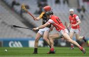 17 March 2017; Mark Schutte of Cuala in action against Joe Neylon of Ballyea during the AIB GAA Hurling All-Ireland Senior Club Championship Final match between Ballyea and Cuala at Croke Park in Dublin. Photo by Brendan Moran/Sportsfile