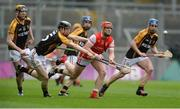 17 March 2017; David Treacy of Cuala in action against Ballyea's, from left, Niall Deacy, Pearse Lillis, Stan Lineen and Pat Joe Connolly during the AIB GAA Hurling All-Ireland Senior Club Championship Final match between Ballyea and Cuala at Croke Park in Dublin. Photo by Piaras Ó Mídheach/Sportsfile