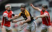 17 March 2017; Gearóid O'Connell of Ballyea in action against Con O'Callaghan, left, and Mark Schutte of Cuala during the AIB GAA Hurling All-Ireland Senior Club Championship Final match between Ballyea and Cuala at Croke Park in Dublin. Photo by Piaras Ó Mídheach/Sportsfile