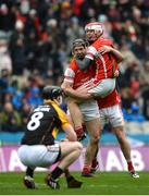 17 March 2017; Mark Schutte, left, and Con O'Callaghan of Cuala celebrate after the AIB GAA Hurling All-Ireland Senior Club Championship Final match between Ballyea and Cuala at Croke Park in Dublin. Photo by Daire Brennan/Sportsfile