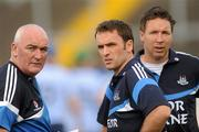 20 August 2011; Dublin manager John McEvoy with his selectors Ciaran Hetherton, left, and Shane O'Brien, right. Bord Gais Energy GAA Hurling Under 21 All-Ireland Championship Semi-Final, Antrim v Dublin, Pairc Esler, Newry, Co. Down. Picture credit: Oliver McVeigh / SPORTSFILE