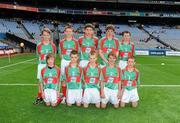 21 August 2011; The Mayo boys team, back row, left to right, Aodhán î Bogaigh, Scoil Mobhi, Co. Dublin, Darren O'Dwyer, Scoil Teampall Toinne, Ballyporeen, Co. Tipperary, Patrick Smyth, Scoil Eoin Baiste, Clontarf, Co. Dublin, Conor Diskin, Barnacarroll N.S., Claremorris, Co. Mayo, front row, left to right, Cathal O'Mahony, Mitchelstown C.B.S., Co. Cork, Brandon Murphy, Shanagolden N.S., Shanagolden, Co. Limerick, Patrick Warren, Raheen N.S., Headford, Co. Kerry, Liam Harrington, Scoil An Spioraid Naoimh, Roxborough, Co. Limerick, Cathal Darcy, Ennis N.S., Ennis, Co. Clare. Go Games Exhibition - Sunday 21st August 2011, Croke Park, Dublin. Picture credit: Dáire Brennan / SPORTSFILE