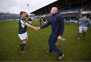 17 March 2017; Chris Keane and Paul O'Connell, right, of the Ireland Legends team before the Ireland Legends and England Legends match at RDS Arena in Dublin.  Photo by Stephen McCarthy/Sportsfile