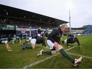 17 March 2017; Mick Galwey of the Ireland Legends team stretches ahead of the Ireland Legends and England Legends match at RDS Arena in Dublin.  Photo by Stephen McCarthy/Sportsfile
