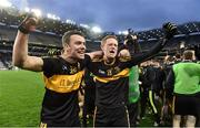 17 March 2017; Shane Doolan, left, and Colm Cooper of Dr. Crokes celebrate after the AIB GAA Football All-Ireland Senior Club Championship Final match between Dr. Crokes and Slaughtneil at Croke Park in Dublin.   Photo by Brendan Moran/Sportsfile