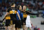 17 March 2017; Colm Cooper of Dr. Crokes remonstrates with referee Maurice Deegan during the AIB GAA Football All-Ireland Senior Club Championship Final match between Dr. Crokes and Slaughtneil at Croke Park in Dublin. Photo by Daire Brennan/Sportsfile