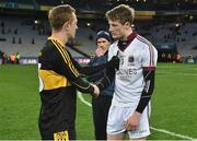 17 March 2017; Colm Cooper of Dr. Crokes consoles Brendan Rogers of Slaughtneil after the AIB GAA Football All-Ireland Senior Club Championship Final match between Dr. Crokes and Slaughtneil at Croke Park in Dublin.   Photo by Brendan Moran/Sportsfile