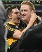 17 March 2017; Brian Looney, left, and Colm Cooper of Dr. Crokes celebrate after the AIB GAA Football All-Ireland Senior Club Championship Final match between Dr. Crokes and Slaughtneil at Croke Park in Dublin. Photo by Brendan Moran/Sportsfile