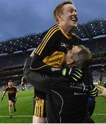 17 March 2017; Colm Cooper of Dr. Crokes celebrates with manager Pat O'Shea after the AIB GAA Football All-Ireland Senior Club Championship Final match between Dr. Crokes and Slaughtneil at Croke Park in Dublin.   Photo by Brendan Moran/Sportsfile