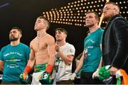 17 March 2017; Michael Conlan ahead of his bout aganst Tim Ibarra at The Theater in Madison Square Garden in New York, USA. Photo by Ramsey Cardy/Sportsfile