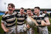 17 March 2017; Belvedere College players, from left, Grellan Murray, Conor Doran, Max Kearney and Oran O'Brien following the Bank of Ireland Leinster Schools Senior Cup Final match between Belvedere College and Blackrock College at RDS Arena in Dublin. Photo by Stephen McCarthy/Sportsfile *** NO REPRODUCTION FEE ***