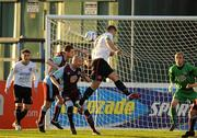 26 August 2011; Dean Bennett, Dundalk, in action against Alan McNally and Dave Rogers, Drogheda United. FAI Ford Cup Fourth Round, Drogheda United v Dundalk, Hunky Dory Park, Drogheda, Co. Louth. Picture credit: Oliver McVeigh / SPORTSFILE