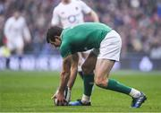 18 March 2017; Jared Payne of Ireland picks up a knock-on during the RBS Six Nations Rugby Championship match between Ireland and England at the Aviva Stadium in Lansdowne Road, Dublin. Photo by Brendan Moran/Sportsfile