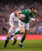 18 March 2017; Jared Payne of Ireland in action against Elliot Daly of England during the RBS Six Nations Rugby Championship match between Ireland and England at the Aviva Stadium in Lansdowne Road, Dublin. Photo by Stephen McCarthy/Sportsfile
