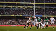 18 March 2017; Jared Payne of Ireland is tackled by Mike Brown, left, and Ben Youngs of England during the RBS Six Nations Rugby Championship match between Ireland and England at the Aviva Stadium in Lansdowne Road, Dublin. Photo by Stephen McCarthy/Sportsfile