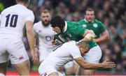 18 March 2017; Robbie Henshaw of Ireland is tackled by Jonathan Joseph of England during the RBS Six Nations Rugby Championship match between Ireland and England at the Aviva Stadium in Lansdowne Road, Dublin. Photo by Brendan Moran/Sportsfile