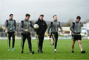 18 March 2017; Kerry players Anthony Maher, Brian Kelly, James O'Donoghue, Barry John Keane and Jack Savage walk the pitch before the Allianz Football League Division 1 Round 5 match between Kerry and Dublin at Austin Stack Park in Tralee, Co Kerry. Photo by Diarmuid Greene/Sportsfile