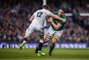 18 March 2017; Iain Henderson of Ireland is tackled by Owen Farrell of England during the RBS Six Nations Rugby Championship match between Ireland and England at the Aviva Stadium in Lansdowne Road, Dublin. Photo by Stephen McCarthy/Sportsfile