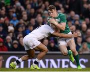 18 March 2017; Garry Ringrose of Ireland in action against Jonathan Joseph of England during the RBS Six Nations Rugby Championship match between Ireland and England at the Aviva Stadium in Lansdowne Road, Dublin. Photo by Sam Barnes/Sportsfile