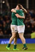 18 March 2017; Garry Ringrose and Andrew Conway of Ireland celebrate after the RBS Six Nations Rugby Championship match between Ireland and England at the Aviva Stadium in Lansdowne Road, Dublin. Photo by Sam Barnes/Sportsfile
