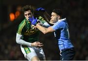 18 March 2017; David Moran of Kerry in action against Shane B. Carthy of Dublin during the Allianz Football League Division 1 Round 5 match between Kerry and Dublin at Austin Stack Park in Tralee, Co Kerry. Photo by Diarmuid Greene/Sportsfile