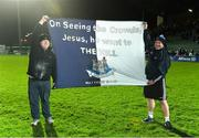 18 March 2017; Dublin supporters Padraig McGovern, left, and Adrian Kavanagh, from Naomh Marnog GAA club, Dublin, after the Allianz Football League Division 1 Round 5 match between Kerry and Dublin at Austin Stack Park in Tralee, Co Kerry. Photo by Diarmuid Greene/Sportsfile