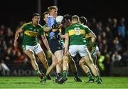 18 March 2017; Conor McHugh of Dublin in action against Anthony Maher, Mark Griffin, Peter Crowley, and Ronan Shanahan of Kerry during the Allianz Football League Division 1 Round 5 match between Kerry and Dublin at Austin Stack Park in Tralee, Co Kerry. Photo by Diarmuid Greene/Sportsfile