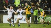 18 March 2017; Ronan O'Neill of Tyrone in action against Michael Murphy of Donegal during the Allianz Football League Division 1 Round 5 match between Donegal and Tyrone at MacCumhaill Park in Ballybofey, Co Donegal. Photo by Oliver McVeigh/Sportsfile
