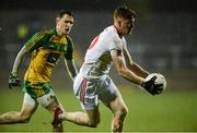 18 March 2017; Conor Meyler of Tyrone in action against Eóin McHugh of Donegal during the Allianz Football League Division 1 Round 5 match between Donegal and Tyrone at MacCumhaill Park in Ballybofey, Co Donegal. Photo by Oliver McVeigh/Sportsfile