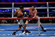 18 March 2017; Andy Lee, right, in action against KeAndrae Leatherwood during their middleweight bout at Madison Square Garden in New York, USA. Photo by Ramsey Cardy/Sportsfile
