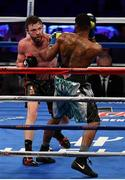 18 March 2017; Andy Lee, left, in action against KeAndrae Leatherwood during their middleweight bout at Madison Square Garden in New York, USA. Photo by Ramsey Cardy/Sportsfile