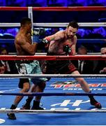 18 March 2017; Andy Lee in action against KeAndrae Leatherwood during their middleweight bout at Madison Square Garden in New York, USA. Photo by Ramsey Cardy/Sportsfile