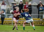 19 March 2017; Catriona Cormican of Galway in action against Emma Sherwood of Kerry during the Lidl Ladies Football national league Round 5 match between Galway and Kerry at Corofin GAA Club in Corofin, Co. Galway. Photo by Sam Barnes/Sportsfile