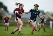 19 March 2017; Caitriona Cormican of Galway in action against Emma Sherwood of Kerry during the Lidl Ladies Football national league Round 5 match between Galway and Kerry at Corofin GAA Club in Corofin, Co. Galway. Photo by Sam Barnes/Sportsfile