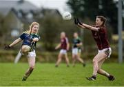 19 March 2017; Ciara Murphy of Kerry in action against Aine McDonagh of Galway during the Lidl Ladies Football national league Round 5 match between Galway and Kerry at Corofin GAA Club in Corofin, Co. Galway. Photo by Sam Barnes/Sportsfile