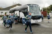 19 March 2017; Joe Hayes of Clare and the rest of the squad arrive ahead of the Allianz Football League Division 2 Round 5 match between Fermanagh and Clare at Brewster Park in Enniskillen, Co Fermanagh. Photo by Oliver McVeigh/Sportsfile
