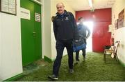 19 March 2017; Monaghan manager Malachy O'Rourke arrives ahead of the Allianz Football League Division 1 Round 5 match between Monaghan and Roscommon at Pairc Grattan in Inniskeen, Co Monaghan. Photo by Philip Fitzpatrick/Sportsfile