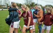 19 March 2017; Galway players including Megan Glynn, celebrate following the Lidl Ladies Football national league Round 5 match between Galway and Kerry at Corofin GAA Club in Corofin, Co. Galway. Photo by Sam Barnes/Sportsfile