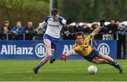 19 March 2017; Conor McManus of Monaghan in action against David Murray of Roscommon during the Allianz Football League Division 1 Round 5 match between Monaghan and Roscommon at Pairc Grattan in Inniskeen, Co Monaghan. Photo by Philip Fitzpatrick/Sportsfile