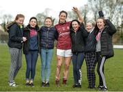 19 March 2017; Emer Flaherty of Galway celebrates with supporters following the Lidl Ladies Football national league Round 5 match between Galway and Kerry at Corofin GAA Club in Corofin, Co. Galway. Photo by Sam Barnes/Sportsfile