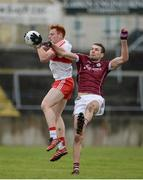 19 March 2017; Conor McAtamney of Derry in action against Fiontán Ó Curraoin of Galway during the Allianz Football League Division 2 Round 5 match between Galway and Derry at St. Jarlath's Park in Tuam, Co Galway. Photo by Sam Barnes/Sportsfile