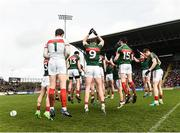 19 March 2017; The Mayo team before the start of the Allianz Football League Division 1 Round 5 match between Mayo and Cavan at Elverys MacHale Park in Castlebar, Co Mayo. Photo by David Maher/Sportsfile