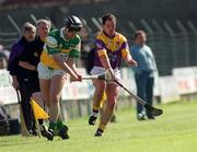 7 April 2002; Hubert Rigney, Offaly, in action against Adrian Fenlon, Wexford. Offaly v Wexford, National Hurling League, Birr, Co. Offaly. Picture credit; Aoife Rice / SPORTSFILE