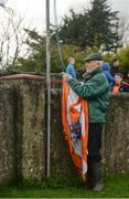 19 March 2017; Groundsman Terry Kelly removing the Armagh flag after the Allianz Football League Division 3 Round 5 match between Louth and Armagh at the Gaelic Grounds in Drogheda, Co Louth. Photo by Eóin Noonan/Sportsfile