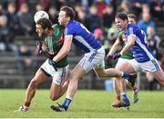 19 March 2017; Tom Parsons of Mayo in action against Gearoid McKiernan of Cavan during the Allianz Football League Division 1 Round 5 match between Mayo and Cavan at Elverys MacHale Park in Castlebar, Co Mayo. Photo by David Maher/Sportsfile