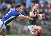 19 March 2017; Andy Moran of Mayo in action against Killian Brady of Cavan during the Allianz Football League Division 1 Round 5 match between Mayo and Cavan at Elverys MacHale Park in Castlebar, Co Mayo. Photo by David Maher/Sportsfile