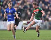 19 March 2017; Danny Kirby of Mayo in action against Conor Madden of Cavan during the Allianz Football League Division 1 Round 5 match between Mayo and Cavan at Elverys MacHale Park in Castlebar, Co Mayo. Photo by David Maher/Sportsfile