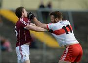 19 March 2017; Gary Sice of Galway and Emmett McGuckin of Derry tustle off the ball during the Allianz Football League Division 2 Round 5 match between Galway and Derry at St. Jarlath's Park in Tuam, Co Galway. Photo by Sam Barnes/Sportsfile