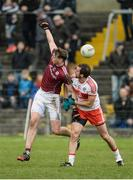 19 March 2017; Thomas Flynn of Galway in action against Charlie Kielt of Derry during the Allianz Football League Division 2 Round 5 match between Galway and Derry at St Jarlath's Park in Tuam, Co Galway. Photo by Sam Barnes/Sportsfile