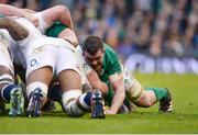 18 March 2017; Peter O'Mahony of Ireland of Ireland during the RBS Six Nations Rugby Championship match between Ireland and England at the Aviva Stadium in Lansdowne Road, Dublin. Photo by Sam Barnes/Sportsfile